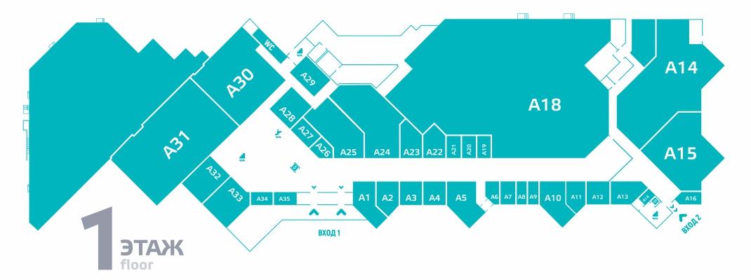 Схема ТРК Пилот 1 этаж