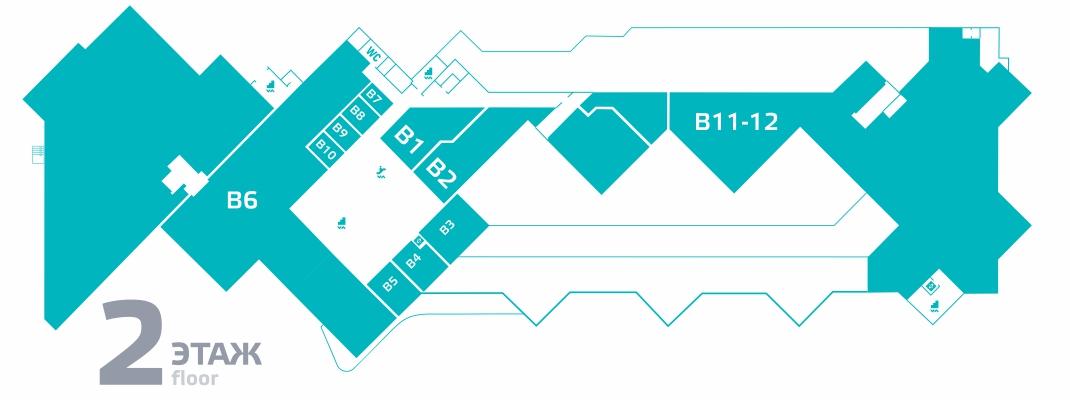 Схема ТРК Пилот 2 этаж